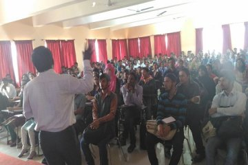 Accenture company pre placement talk for engineering student in PCCOER, Pune